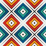 Afrykanina stylowy bezszwowy wzór w jaskrawych kolorach Etniczny i plemienny motyw Częstotliwy rhombuses abstrakta tło Obrazy Stock