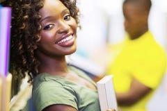 Afrykanina uni uczeń Obrazy Royalty Free