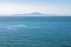 Afrykanina wybrzeże widzieć od Gibraltar Obraz Royalty Free