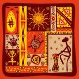 afrykanina wzór Obrazy Royalty Free