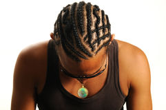 afrykańska fryzura Zdjęcie Royalty Free