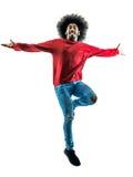 Afrykańska mężczyzna sylwetka odizolowywająca Zdjęcia Stock