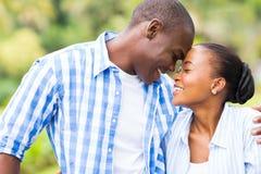 Afrykańska pary miłość Fotografia Royalty Free