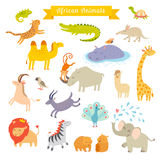 Afrykańska zwierzę wektoru ilustracja duży wektoru set Fotografia Royalty Free