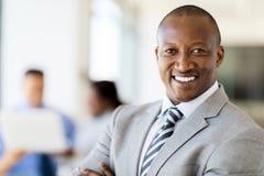 Afrykański biznesmena portret Zdjęcia Stock