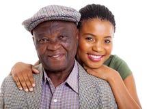 Afrykańskiej córki starszy ojciec  Obrazy Royalty Free