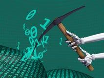 Informatie voor het exploiteren van gegevens Stock Afbeelding