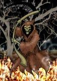 Afschuwelijke Dood schytes op brand Stock Afbeelding