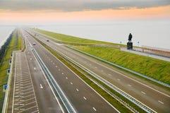 afsluitdijk Голландия Стоковые Фотографии RF