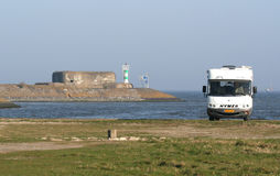 Afsluitdijk Obraz Royalty Free