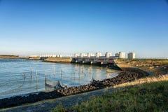 Afsluitdijk holandie Zdjęcia Royalty Free