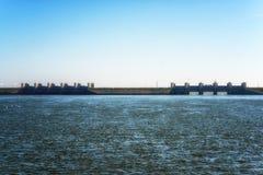 Afsluitdijk holandie Obrazy Royalty Free