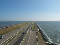 Afsluitdijk, Holland Royalty Free Stock Images
