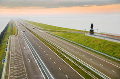 Afsluitdijk, Holland royalty free stock photos