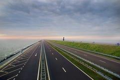 Afsluitdijk, Holland fotos de stock