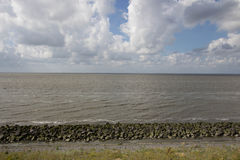 Afsluitdijk holland dams on the North Sea Royalty Free Stock Photos