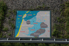 Afsluitdijk holland dams on the North Sea Stock Images