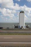 Afsluitdijk Holland tamy na Północnym morzu Zdjęcia Royalty Free