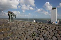 Afsluitdijk Holland tamy na Północnym morzu Obraz Stock
