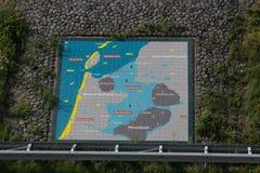 Afsluitdijk Holland tamy na Północnym morzu Obrazy Stock