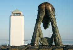 Afsluitdijk jest ważnym droga na grobli w holandiach Obrazy Royalty Free
