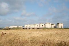 Afsluitdijk jest ważnym droga na grobli w holandiach Zdjęcie Stock