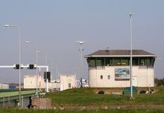 Afsluitdijk jest ważnym droga na grobli w holandiach Zdjęcia Stock