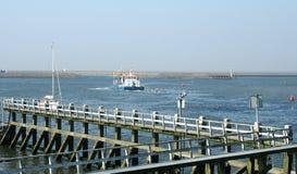 Afsluitdijk jest ważnym droga na grobli w holandiach Zdjęcia Royalty Free