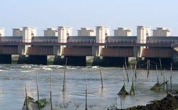Afsluitdijk jest ważnym droga na grobli w holandiach Obrazy Stock