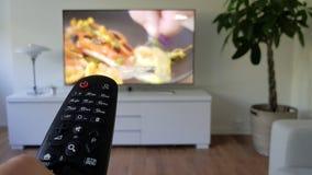 Afstandsbediening voor televisie Stock Foto