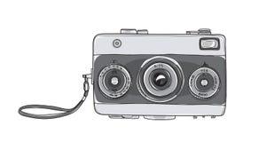 Afstandsmeter hand getrokken leuk vectorar van 35 mm van de filmcamera de uitstekende royalty-vrije illustratie