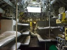Aft compartment submarines. Aft compartment and berth diesel submarines Stock Images