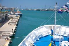 Aft liner. Worker aft liner summer day running Royalty Free Stock Images