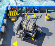 Aft mooring winch Stock Image