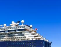 Aft pokłada statek wycieczkowy Obrazy Royalty Free