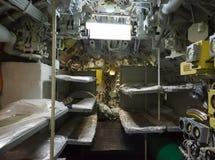 Aft przedział łodzie podwodne Obrazy Stock