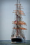 Aft of the sailboat Stock Photography