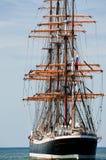 aft segelbåt Arkivbilder