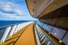 Aft. Side of a cruise ship Royalty Free Stock Image