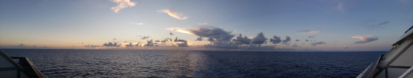 Aft widok na rejs łodzi balkonie obrazy royalty free