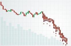Aftappende grafiek Stock Foto's