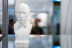 Aftasten aan 3D printer bas President Putin Royalty-vrije Stock Afbeelding