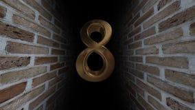 Aftelprocedure aan de gebeurtenis De aantallen zijn in volgorde van draai Geheimzinnige rekening Nummer 8 stock videobeelden