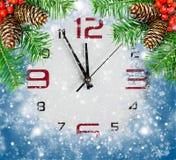 Aftelprocedure aan Nieuwjaar, abstracte vakantieachtergronden Stock Foto's
