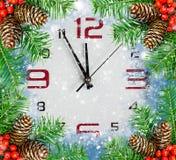 Aftelprocedure aan Nieuwjaar, vakantieachtergronden Royalty-vrije Stock Foto