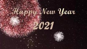 2021: Aftelprocedure en Gelukkige nieuwe jaargroeten vector illustratie