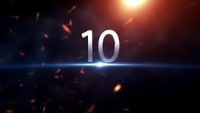 Aftelprocedure Motiongraphic 10 tot 0 Aftelprocedurebegin Verbazende aftelprocedureanimatie Klaar voor ras, gebeurtenis, partij Stock Foto
