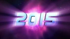 Aftelprocedure 2015 Nieuwjaar stock illustratie