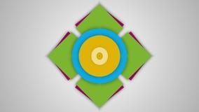 Aftelprocedure 10 tot Nul met geanimeerde kleurrijke achtergrond royalty-vrije illustratie