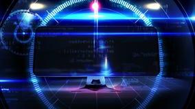 Aftelprocedure tot 2015 op het computerscherm in technologie-stijl royalty-vrije illustratie